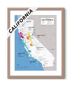 USA: California Wine Map