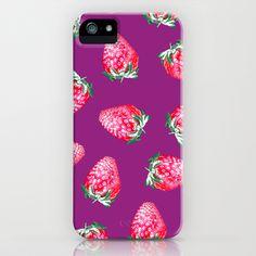 <3 Strawberry Fields iPhone Case <3