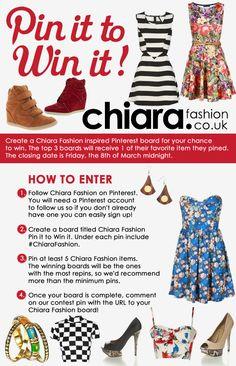 Pin it to Win it - Chiara Fashion Pinterest competition. #ChiaraFashion