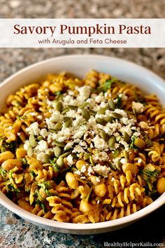 Savory Pumpkin Pasta | A one-pot vegetarian pasta dish filled with seasonal ingredients and flavors. This Savory Pumpkin Pasta is a sweet and savory comfort food meal that your whole family will love! #healthycomfortfood #healthypasta #onepotmeal #healthydinner #pumpkinpasta #glutenfreerecipes #glutenfreepasta #healthydinnerrecipe #healthymeals #easyandhealthy #pastarecipe #pumpkinrecipes