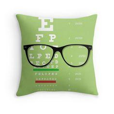 Eyeglasses Chart 01 Throw Pillow