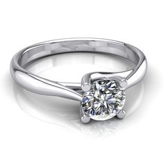 Diamond Solitaire Engagement Ring 1.55 Carat Round Shape H SI1 14k White Gold #DiamondsCollection #Solitaire