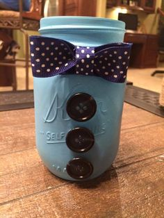 A personal favorite from my Etsy shop (null) baby boy Bow tie mason jar. Home decor for nursery, baby shower.