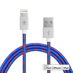 Apple MFi lightning cable for iPod, iPhone or iPad Reinforced aluminum shielding on the USB and 8-pin connectors Rugged tangle-proof stylish fabric 5 feet in length Compatible with iPhone 6S, iPhone 6S+, iPhone 6, iPhone 6+, iPhone 5, iPhone 5S, iPhone 5C, iPad Mini or iPad Air MFi Certified by Apple   Which cord is right for me?