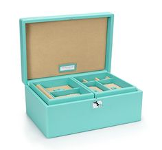 Tiffany & Co. | Item | Jewelry box in Tiffany Blue® leather, large.