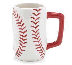 Large Ceramic Baseball Mug