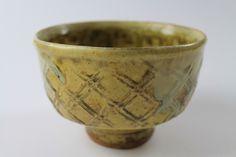 Jim Malone - Teabowl, Paddle Pattern, Ash and Granite Glaze