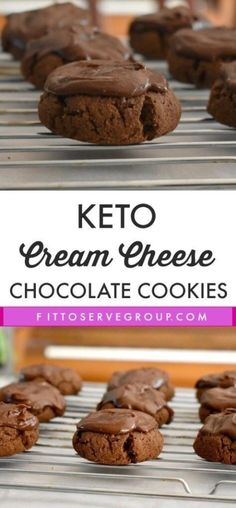 Keto Cream Cheese Chocolate Cookies a rich decadent low carb keto treat! Keto Cream Cheese Chocolate Cookies a rich decadent low carb keto treat! Keto Diet For Beginners Desserts Keto, Keto Friendly Desserts, Dessert Recipes, Keto Snacks, Dinner Recipes, Keto Desert Recipes, Keto Sweet Snacks, Cookie Recipes, Holiday Desserts