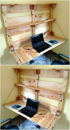 Simple And Easy Pallets Recycling Ideas Pallet Furniture Pallet Wood Projects Easy Pallet Projects How To Build Furniture From Pallets Pallet Crafts For Christmas DI. Pallet Home Decor, Pallet Desk, Pallet Crafts, Diy Pallet Furniture, Diy Home Decor, Furniture Ideas, Desk Ideas, Ideas Fáciles, Garden Furniture