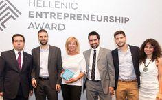Ελληνικά Βραβεία Επιχειρηματικότητας 2014 - E-SATISFACTION - Από αριστερά o Υφυπουργός Ανάπτυξης, κ. Νότης Μηταράκης, ο κ. Στέλιος Ηλιάκης, η κα. Ξένια Κούρτογλου, ο κ. Ευάγγελος Κοτσώνης, ο κ. Κωνσταντίνος Μπουλταδάκης και η κα. Κατερίνα Πραματάρη, στην Τελετή Βράβευσης 2014.