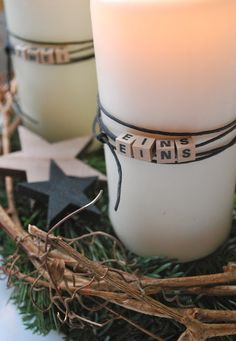 beaded advent candles, would work for other holidays birthdays etc ~ mamas kram