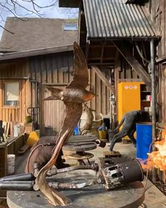 Hamish Mackie applying patination to his swift sculpture. Each patina is hand done by heating up tge sculpture and applying chemicals. A process Hamish always tries to do himself at the foundry Bird Sculpture, Bronze Sculpture, Sculptures, Swift, How To Apply, Sculpting, Sculpture, Statue