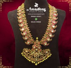Mango Haram Necklace For More Details Whatsapp : +91-99660 00001 | +91-98483 99866 Email : info@amarsonspearl.com