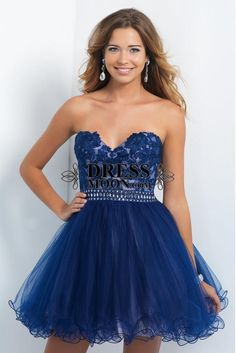 Sweetheart Neckline Lace Embroidered bodice With Beaded Waist Baby Doll Dress - HomeComing Dresses - Homecoming Navy Cocktail Dress, Womens Cocktail Dresses, 2016 Homecoming Dresses, Graduation Dresses, Sweet 16 Dresses, Mini Dresses, 15 Dresses, Cheap Dresses, Pretty Dresses