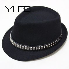 93b40d40d4e  US  6.86    YIFEI men women pure wool fedoras belt rivets cloth  belt