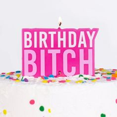Our Naughty Party range is growing! Make a statement and light up your cake with this naughty 'Birthday Bitch' Candle wh. Happy Birthday Girls, Pink Birthday, Birthday Parties, Birthday Ideas, Kids Party Decorations, Halloween Party Decor, Birthday Cake With Candles, Confetti Balloons, Party Shop