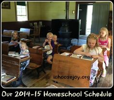 #Homeschool Schedule 2014-15 for large families from ichoosejoy.org