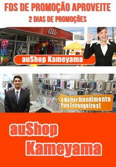 Promoção de smartphones na auShop Kameyama. iPhone 6S e iPhone 7 em excelentes condições. Staff especializado para atender estrangeiros. Apenas nos dias 28 e 29 de janeiro