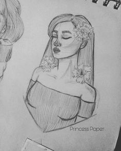 """25 Me gusta, 2 comentarios - Princess.Paper (@princess_paper_illustration) en Instagram: """"🌼 Inspired by the beautiful lady @hallucineon 🌼 . . . . . . . . . #lady #sexy #draw #drawing…"""""""