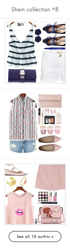 """Shein collection #8"" by simona-altobelli ❤ liked on Polyvore featuring Current/Elliott, Steve Madden, Hermès, Smashbox, Sheinside, shein, New Look, Whistles, NARS Cosmetics and Herbivore Botanicals"
