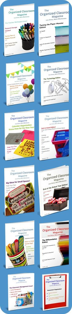 An entire year's worth of The Organized Classroom Magazine!  All 12 issues to take you through the school year and more!  Stop by and see them all!  http://www.theorganizedclassroomblog.com/index.php/magazine