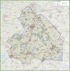 Antique map landkaart plattegrond Scheveningen 1914 Historical