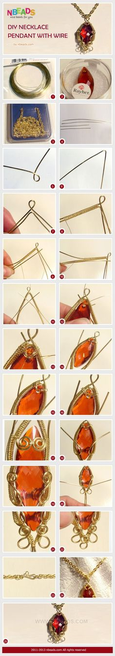 diy necklace pendant with wire