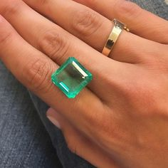 This 12+ carat Colombian Emerald is off to a new home. We can't wait to see the exquisite piece of jewelry that this gem will soon adorn! #SOLD #joganibh