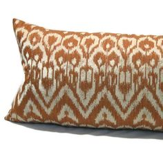 Decorative Lumbar Throw Pillow Cover  In Rust by AudreysHandMade, $38.00