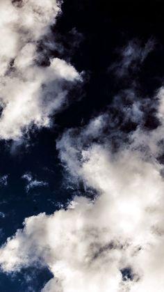 Cloud Dark Blue Sky Nature Summer iPhone 6 wallpaper