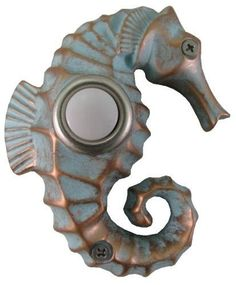 Seahorse Painted Doorbell Cover Door Remodel Decorate Decor Ocean Front Fish