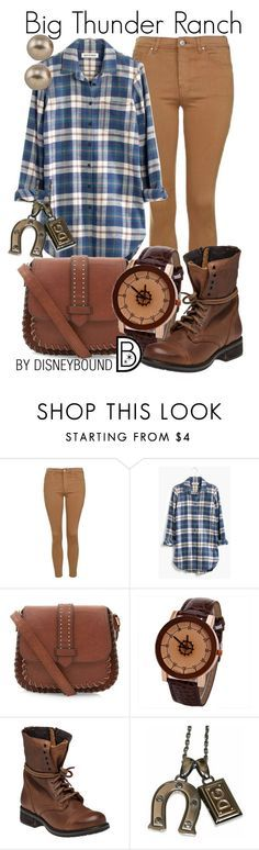 """""""Big Thunder Ranch"""" by leslieakay ❤ liked on Polyvore featuring moda, Topshop, Madewell, Steve Madden, Carolee, women's clothing, women's fashion, women, female e woman"""