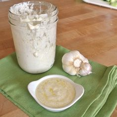 Garlic-Parmesan Salad Dressing - We're having this tonight. I just blended it up. It's really good.