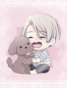 on Ice ✧ Chibi Viktor Chibi Anime, Chibi Boy, Kawaii Chibi, Cute Chibi, Anime Kawaii, Anime Manga, Bebe Anime, Anime Love, Anime Guys