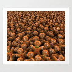 Buy Gingerbread army Art Print by dima_v. Worldwide shipping available at Society6.com. Just one of millions of high quality products available.
