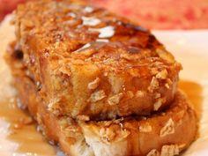 Pumpkin French Toast With Cinnamon Crunch Crust
