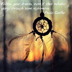 Follow your dreams, even if that includes going through some nightmares ~ Paulo Coelho