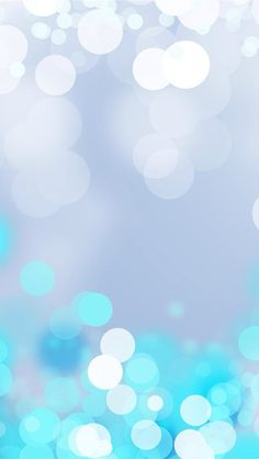 Silver To Bright Blue Bokeh Glitter, Sparkle, Glow iPhone Wallpaper