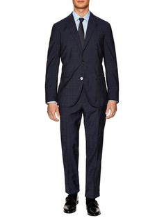 Boglioli Wool Plaid Notch Lapel Suit