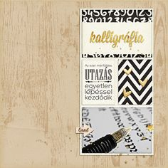 Kalligráfia - scrapbook trendek
