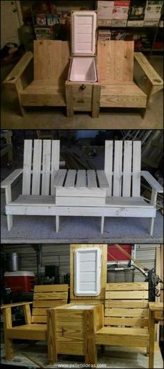 Wood Pallet Ideas 20 Plans for Recycled Pallet Furniture Pallet Crafts, Diy Pallet Projects, Furniture Projects, Home Projects, Woodworking Projects, Garden Furniture, Furniture Stores, Woodworking Plans, Office Furniture