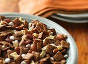 Cinnamon Apple Chex Mix~ This One Will Satisfy The Ladies and Gents! Its Salty, Sweet, And Has Traditional Fall Flavors~ Perfect For The Football Tailgating Season!