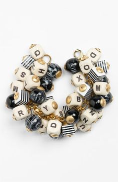 Lenora Dame 'Letter & Ball' Bracelet available at #Nordstrom