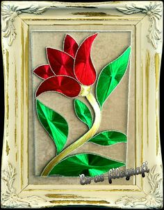 Filografi lale osmanlı arabic Crewel Embroidery, Beaded Embroidery, Arte Linear, String Crafts, String Art Patterns, Stained Glass Flowers, Easy Crafts For Kids, Homemade Crafts, Wire Art