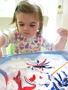 simple sensory activity for 4th of july