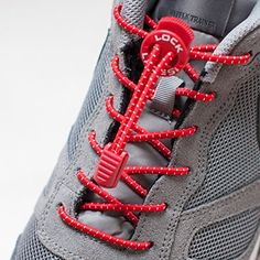Lock Laces Elastic Shoelace and Fastening System (Red, 48-Inch) Lock Laces. No more tying your shoes.
