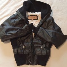 Faux Leather Jacket with Fur Lining Super super soft and cozy! I love this so much but it's too small :-( Fits a size small best, never worn! Forever 21 Jackets & Coats