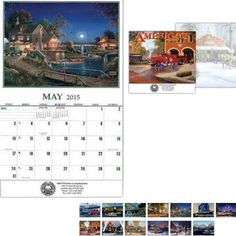 Americana promotional calendar from bizpen.com provides year-long advertising for your business