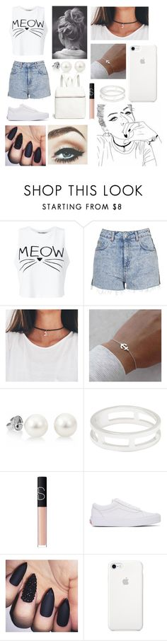 """💎"" by iamthequeenofwonderland ❤ liked on Polyvore featuring Miss Selfridge, Topshop, Dainty Edge, Witchery, NARS Cosmetics, Vans and Kara"