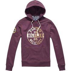 #Lila #Kapuzenpullover mit Print ab 99,90€ ♥ Hier kaufen: http://stylefru.it/s824031 #hoodie #tommyhilfiger